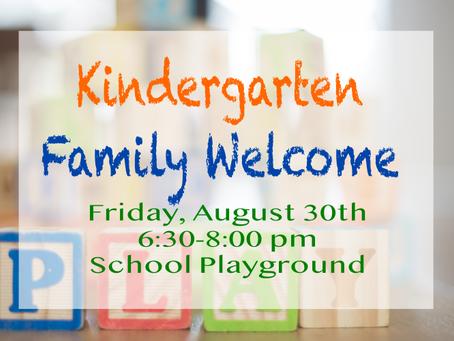 Attention all kindergarten parents...