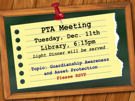 Upcoming PTA Meeting....