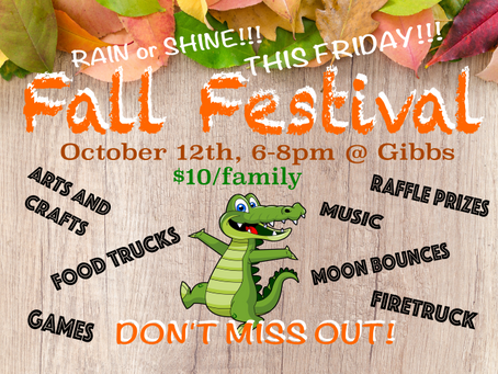 Fall Festival is this Friday!!!