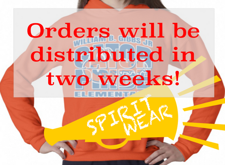 Gibbs Spirit Wear: Your order is on its way!