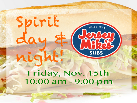 Friday spirit day fundraiser...