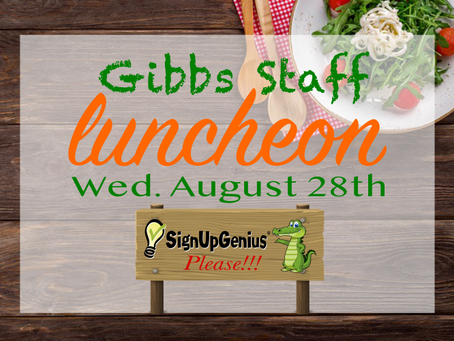 Welcome Back Staff Luncheon!