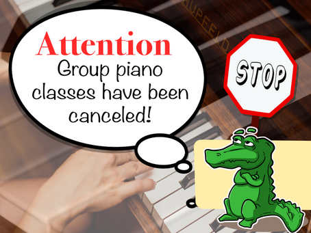 Please note: Group piano is canceled!