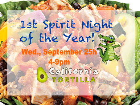 Support your school while dining on fresh & delicious food!