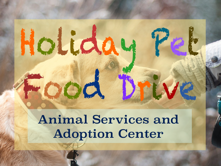 Food Drive for Pets!