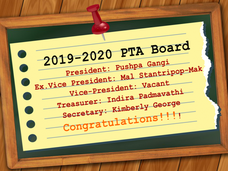 Let's welcome the new board....