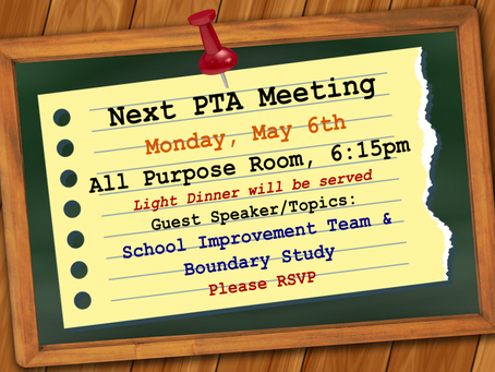 Very Important: Next PTA Meeting....