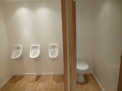 3+1 urinals and cubicle