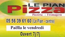 pizzeria le pian pizza