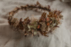 Dried lwer floral crown
