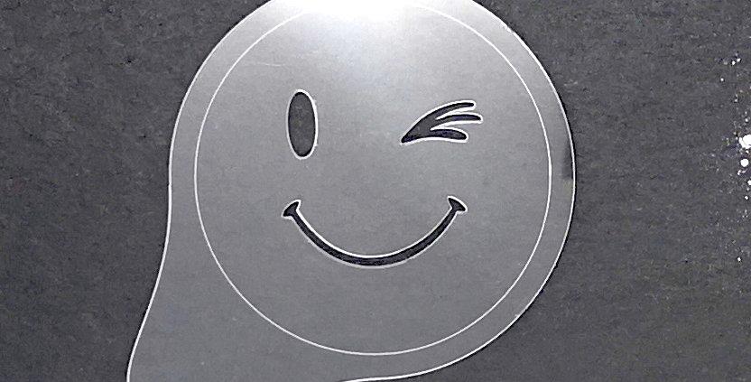 """Cappuccino Topper """"Smiley zwinker rechts"""""""