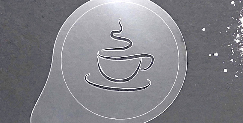 "Cappuccino Topper ""Kaffeetasse Outline"""