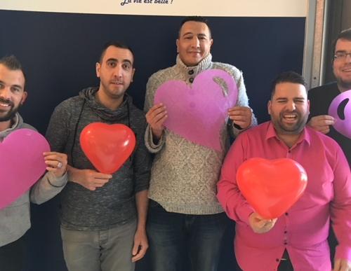 Le challenge de la saint Valentin : équipe des garçons