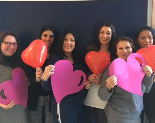 Le challenge de la saint Valentin : équipe des filles