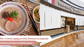 Get your one-for-one deals at Ippudo Marina Bay to get your Japanese cuisine cravings satisfied