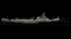 3D Image of USS Grunion Created by Lost52 Project