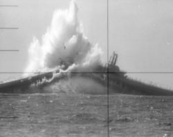 USS Devilfish Being Sunk by USS WAHOO