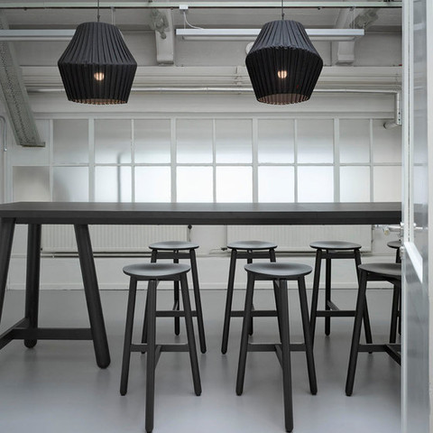 Beech / stool and high table