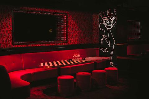 Le Baron / lounge area + Mr.A graffity