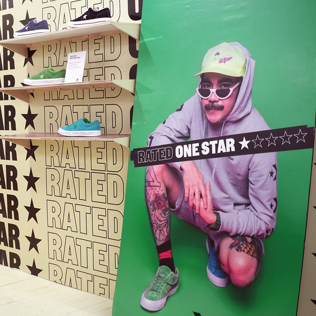 Converse / 'Rated one star' / influencer room