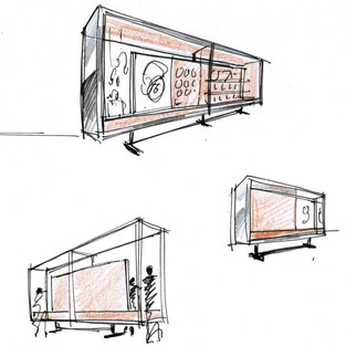 T-Mobile / display cabinet sketches