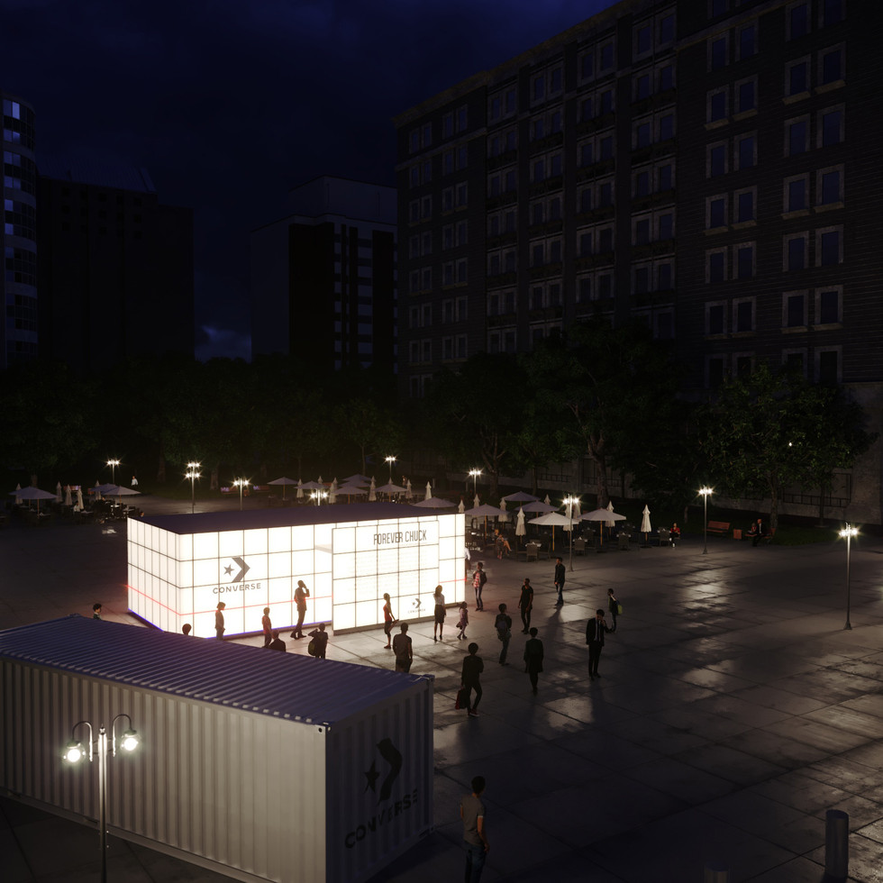 Converse / 'Forever Chuck' / night time pavilion
