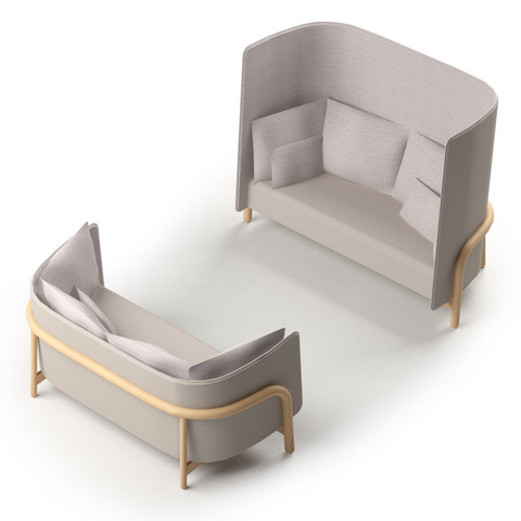 Beech Private / easy chair and couch