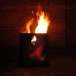 Burn box / '24-7 noche' / logo fire basket