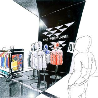 Nike / Beijing Pop-up / windrunner display