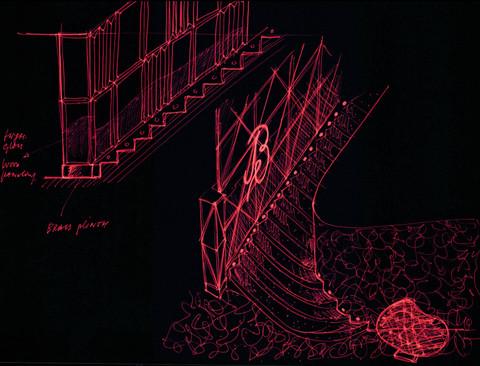 Le Baron / staircase sketch