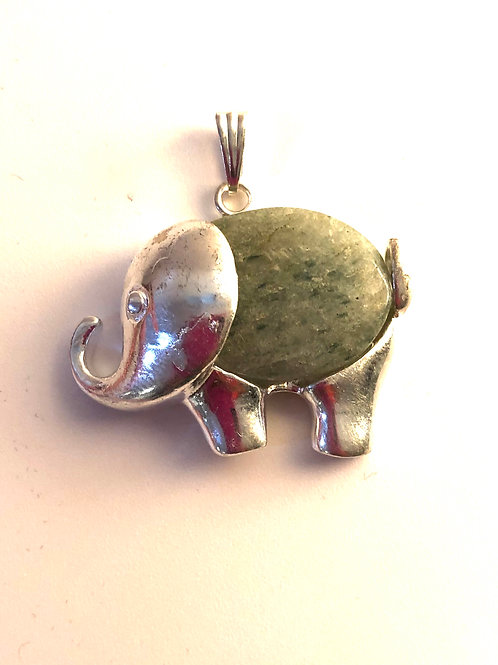 Green Aventurine Elephant Pendant