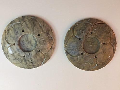 Lotus Carved Stick/Cone Burner (Set of 2)