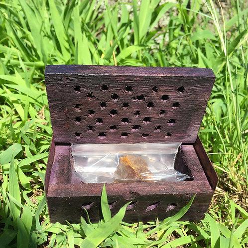 Golden Amber Resin Gift Box