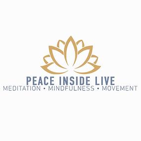 Peace Inside Live - Zoom Logo (White Bac
