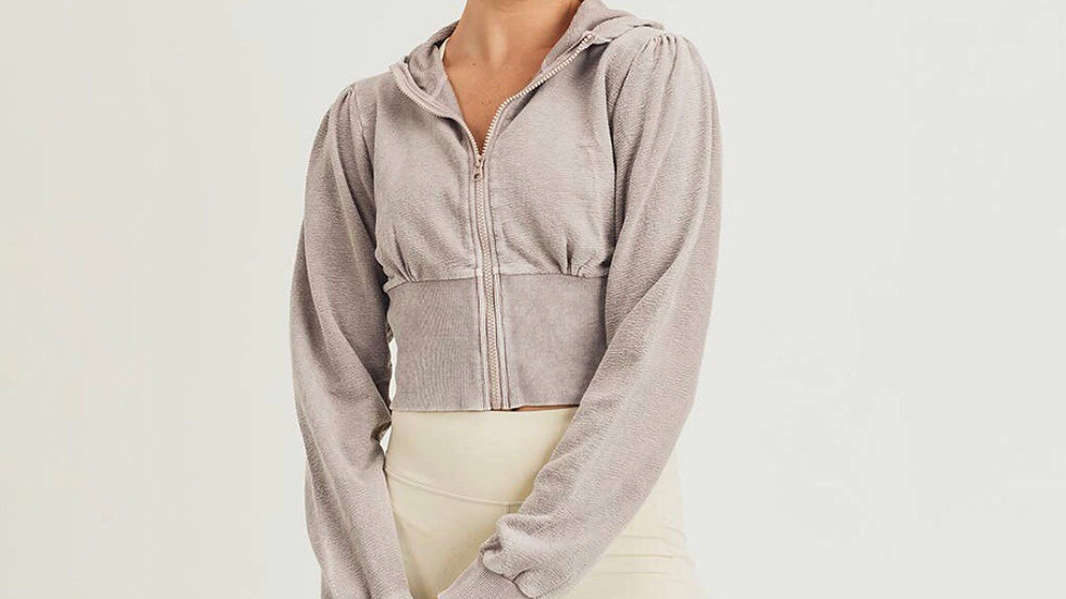 CC -  Cropped Hoodie w/Bishop Sleeves