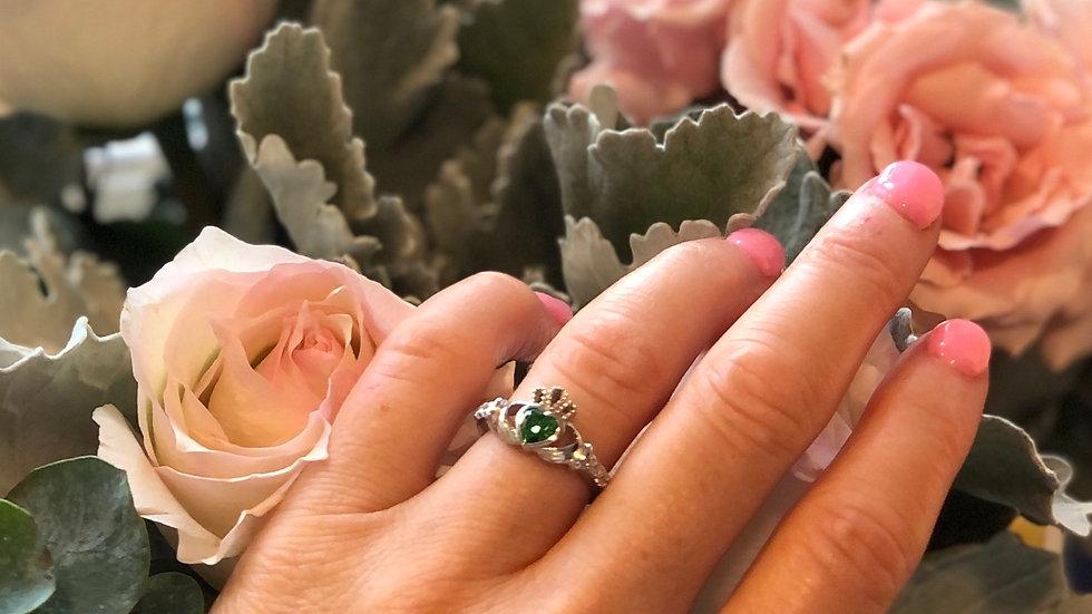 Claddagh Birthstone Ring - May