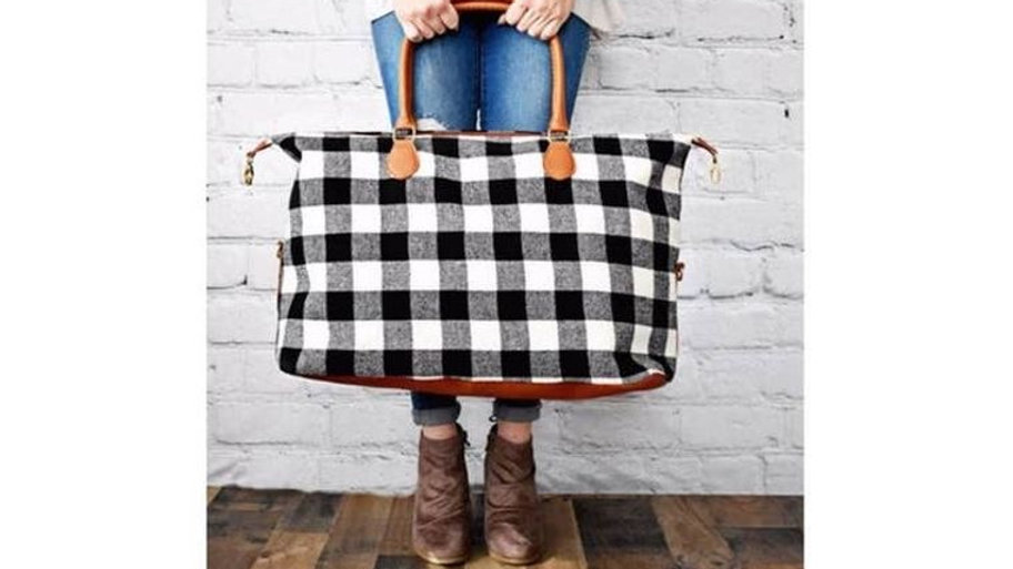 Buffalo Plaid Weekender Bag
