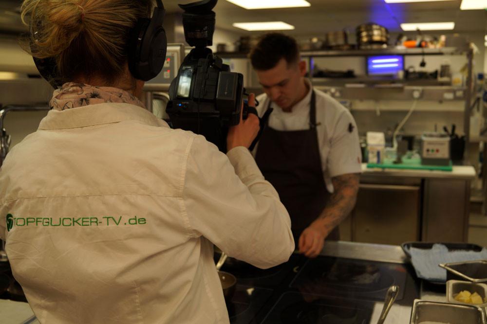 Dreharbeiten Sternerestaurant mit Küchenchef Dean | Topfgucker-TV