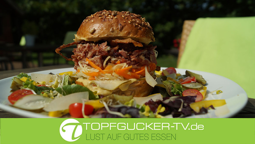 Der Spreewald Burger als kulinarische Empfehlung bei Topfgucker-TV