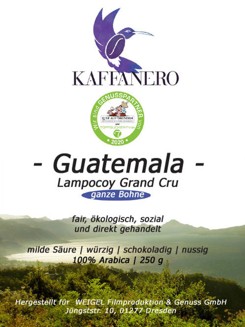 Lampocoy Grand Cru | Guatemala | Bohnen