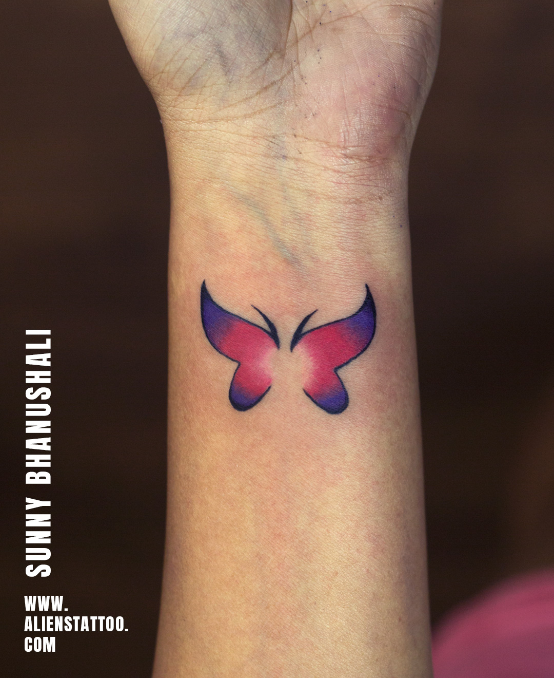 Butterfly Color Tattoo - Aliens Tattoo