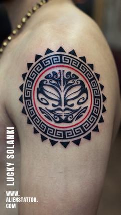 Tribal-Sun-tattoo-by-lucky-solanki-aliens-tattoo