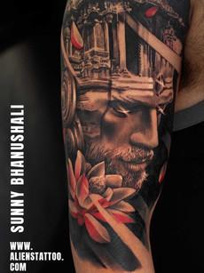 Realistic Portrait | Aliens Tattoo