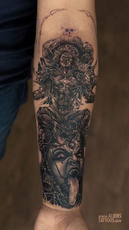 Powerful Shiva and Mahakali Tattoo