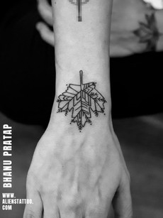 Leaf Tattoo By Bhanu Partap | Aliens Tattoo