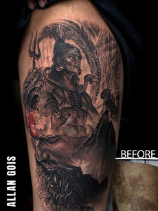 Coverup Tattoo Aghori Shiva Tattoo