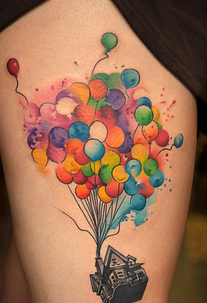 Colourful balloon Tattoo