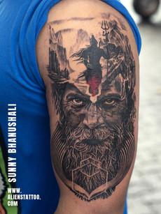 Mortal Journey Of Shiva Tattoo Aghori Porttrait