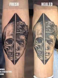 Healed-allan-dotwork-greek-portrait-Inst