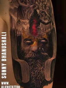 Mixture Shiva Tattoo | Aliens Tattoo